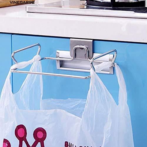 Freahapレジ袋ハンガードアハンガーゴミ袋ラックポリ袋ホルダー雑巾掛け物ハンガー掛け式ゴミ袋スタンドステンレス製キッチン収納用品移動可能ゴミ袋収納ホルダー掛け式キッチン