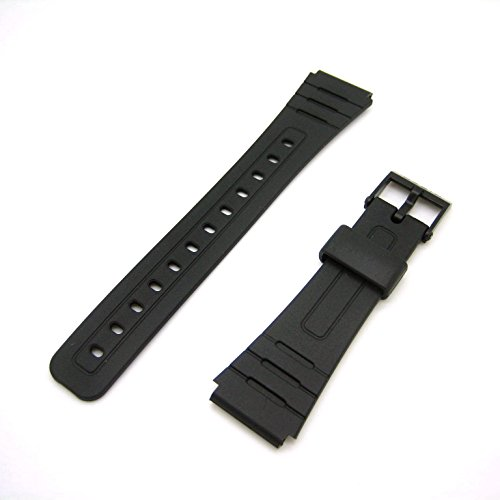Genuine Casio Replacement Watch Strap 71604002 for Casio Watch F-105W-1ASV, F-91W-3W, F-105W-1AV + Other models