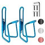 HiLo sports Set di 2 portabottiglie per bicicletta, 4 viti e utensili, 4 colori (blu)