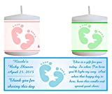 28 BABY FEET BABY SHOWER FAVORS PERSONALIZED VOTIVE CANDLE LABELS