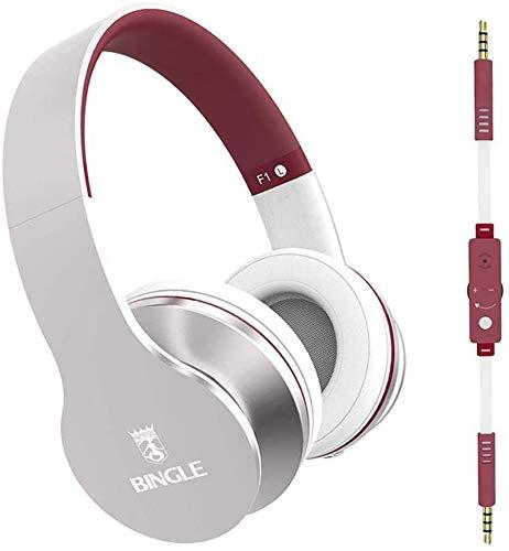 FHW Mobiele telefoon headset, bedrade headset subwoofer notebook headset met microfoon big oorbeschermer stereo gokken microfoon koptelefoon