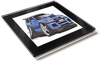 Koolart - Posavasos de cristal con caja de regalo para coche Nissan Pulsar GTI-R