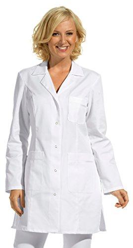 clinicfashion 10212025 Langkasack weiß für Damen, Mischgewebe, Größe 36