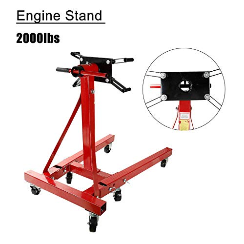 TYFYB Engine Stand 2000LBS Capacity Motor Stand Engine Hoist Rotating Automotive Repair Tools Equipments in Heavy Duty Steel for Auto Car Truck Jack