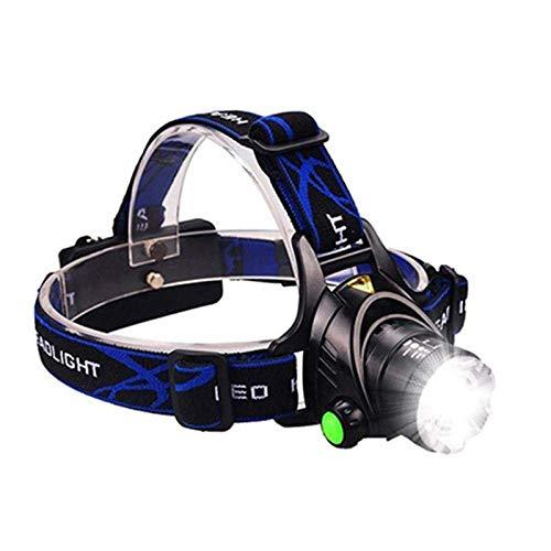 Faros delanteros LED de superpotencia T6/L2/V6 Linterna LED Luz de cabeza Faros delanteros con zoom uso AAA 18650 Batería Luz de bicicleta Luz impermeable Luz de cabeza V6-12000 lúmenes