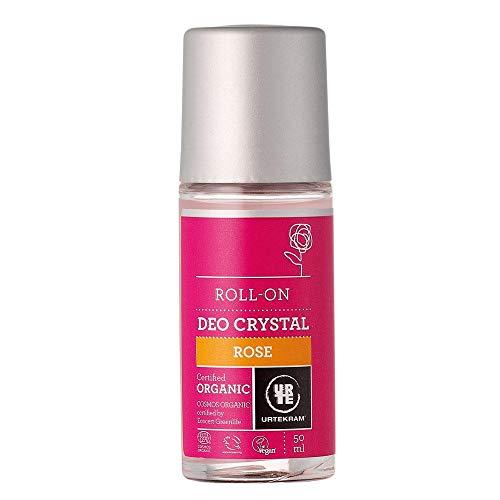 Urtekram Rose Deokristall Bio, Roll-On, 50 ml, URTORGC90