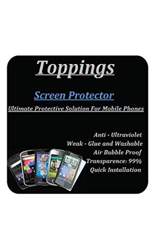 Toppings Anti Shock 4 in one Screen Protector Flexible Screen Guard for LG G8X ThinQ Covers All Three Screens & Camera Front & Back All Side Protection (Transparent)