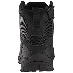 Under Armour Men's Valsetz RTS 1.5 Side Zip Military and Tactical Boot, Black (001)/Black, 8