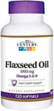 21st Century Flaxseed Oil 1000 Mg Softgels, 120-Count (22871)