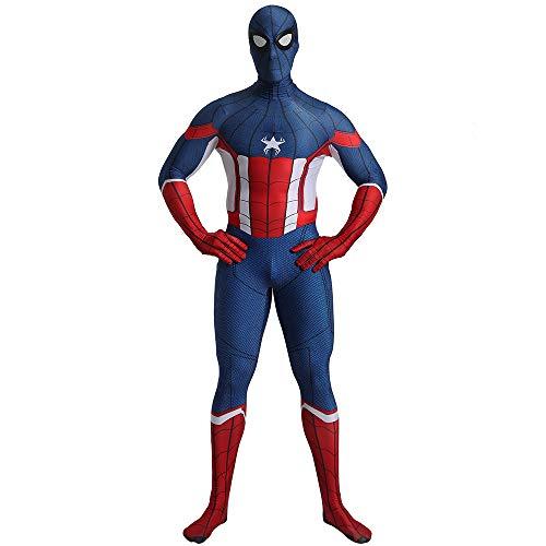 FYBR - Costume da Capitan America, Spiderman Morph Zentai, in Lycra, Extra Large