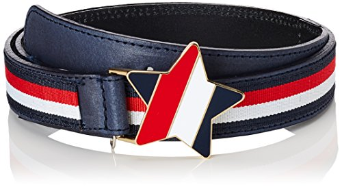 Tommy Hilfiger Star Plaque Belt Cintura, Blu (RWB 901), Large (Taglia Produttore: L-XL) Bambina