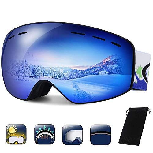 TBoonor Skibrille Kinder Dual-Layer Linse Snowboard Brille für die Jugendliche 5-18 Jahre UV400...