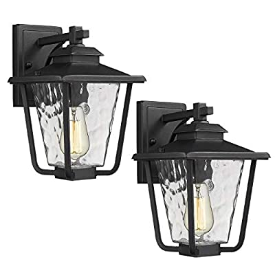 Osimir Outdoor Wall Sconce 2 Pack, One Light Ex...