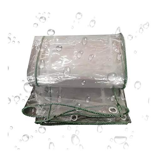 ALGFree Tarea Pesada Lona Impermeable Exterior, Suave Vaso Funda Protectora Transparente A Prueba De Polvo Impermeable Cubrir por Uso Al Aire Libre, Cubre Madera (Color : 0.5mm, Size : 1.4x6m)