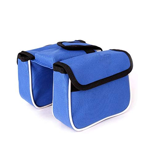 Oxford Doek Dubbele Tas Fietstas Nieuwe Cross Country Bike Front Bag-Riding Equipment Oxford Doek Mobiele Telefoon Tas Rood, Blauw