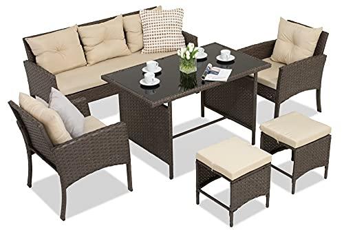 Set di mobili da Giardino Point Bari Marrone | Set Perfetto di mobili da Giardino