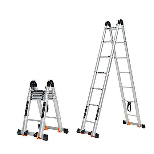 BLWX LY-Step kruk Aluminium telescopische ladder huishoudelijke vouwen ladder multifunctionele lift draagbare engineering ladder voor loft, huis rond, gebouw