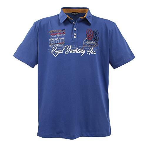 Lavecchia Polo Shirt LV4688IB, 7XL, Indigo-blau