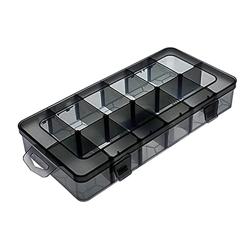NIDONE Organizador De Joyas De Plástico Caja De Almacenamiento Joyero con Pendiente Divisores Ajustables Contenedores De Almacenamiento De 18 Cuadrículas L