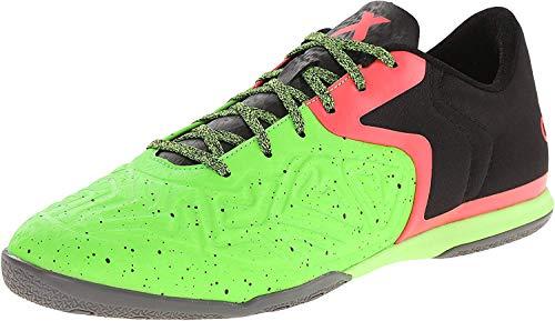 adidas Performance Men's X 15.2 CT Soccer Shoe, Core Black/Flash Red S15/Solar Green, 8 M US