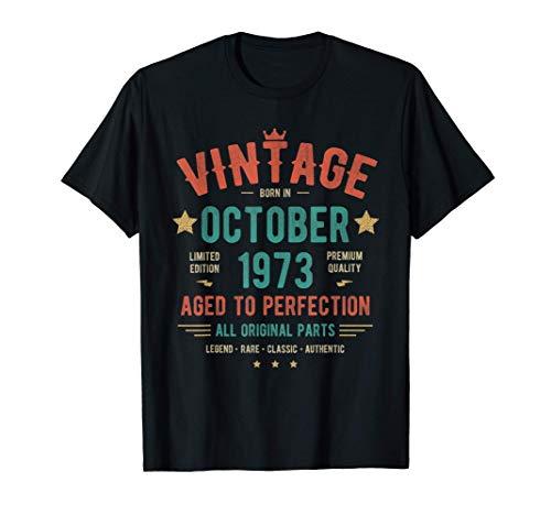 Vintage Clasico Octubre 1973 Camiseta - Nacido en 1973 Camiseta