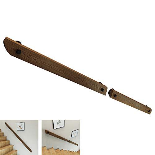 LTFS 30 cm - 450 cm Corrimano - Kit Completo, Ringhiere in Legno per Scale, Ospedale, Scuola Materna Anti-Caduta corrimano del corridoio, Ringhiera di rampa Antiscivolo, Sicuro