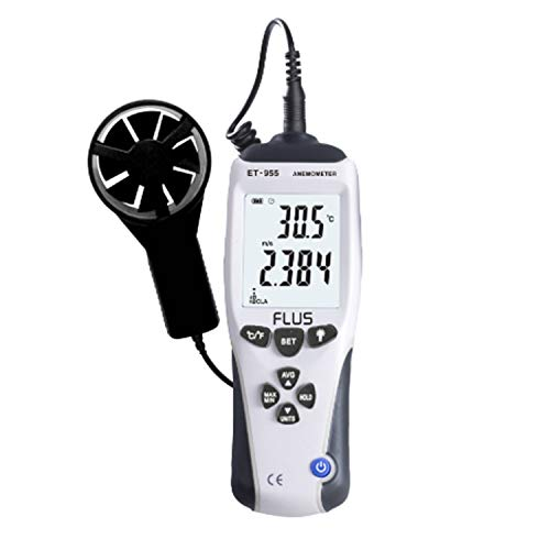 Dhmm123 Digital Digital-Anemometer Flügelrad-Messung der Windgeschwindigkeit ET-955 CFM/CMM Thermo Anemometer for Windgeschwindigkeit Messgerät Meter Temperaturskala Spezifisch