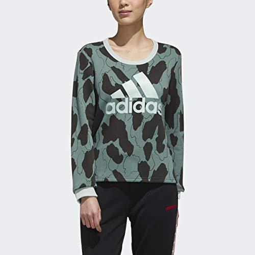 adidas x Zoe Saldana Collection Women's Sweatshirt Women's, Green, Size XL