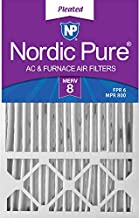 Nordic Pure 16x25x5 MERV 8 Honeywell/Lennox AC Furnace Air Filters 4 Pack