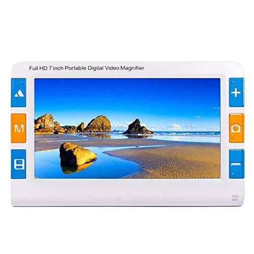 7in Lupa Digital para Baja Visión, Zoom 2x-32x, 26 Modos De Color, Salida AV HDMI A TV, Ayudante Digital Ideal para Leer, Escribir, Visualizar Mapas, Libros