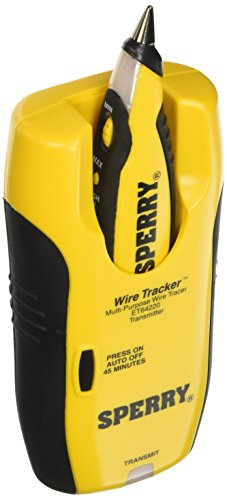 Sperry Instruments ET64220 Wire Tracker Wire Tracer, Audio / Video Installers Must-Have, for Coax, CAT 5, Speaker & Phone, Adapter plugs: RJ-45, RJ-11, Coax & More , Yellow