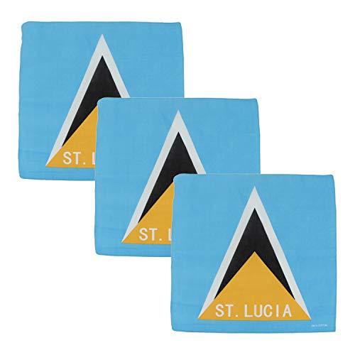 Motique Accessories Halstücher aus Baumwolle, groß, karriische Flaggen, 3 Stück - Blau - Einheitsgröße
