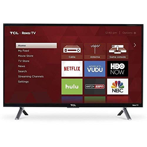 "TCL 55S403 LED 4K 120 Hz Wi-Fi Roku Smart TV, 55"" (Renewed)"