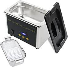 Ultrasonic Cleaner - Ultrasonic Jewelry Cleaner 0.8L, Ultrasound Cavitation Machine Sonic Cleaner, with Digital Timer for Cleaning Denture, Jewelry, Parts, Dental Tool, Lab, Eyeglasses, etc. (0.8L)