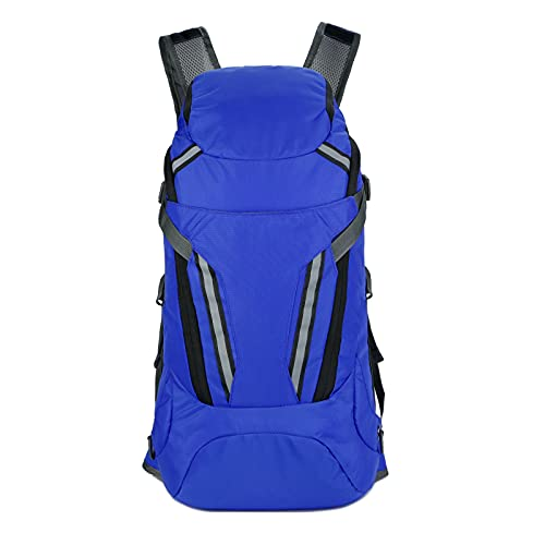 QIANJINGCQ New product outdoor travel backpack large capacity mountaineering bag portable waterproof folding bag multifunctional hiking reflective backpack