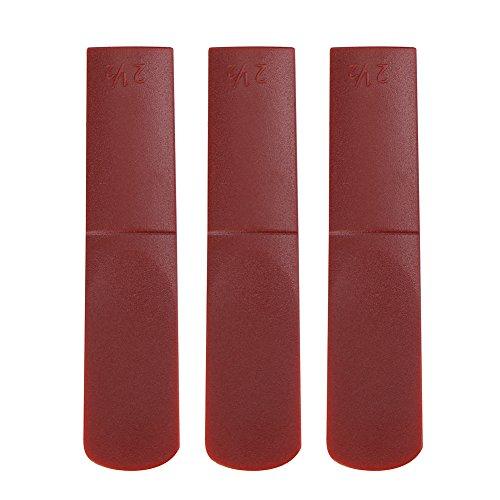3 Pezzi Ance per Sassofono Contralto, Ance per Bocchino da Sassofono Contralto in Resina 2.5 Ance per Sax Alto(Red)