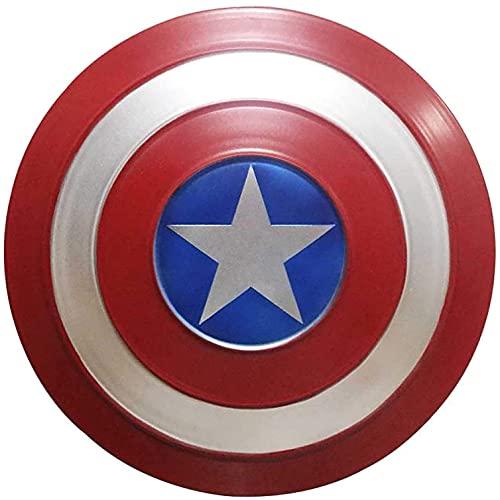 KDDEON Capitán América Escudo Full Metal 1 a 1 Versión de película Vengadores Accesorios de Mano Modelo Decoración Serie Leyenda Réplicas Miracle Props Modelo Decoración A, 47CM