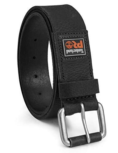 Timberland PRO Men's 38mm Boot Leather Belt, Black (Rubber Patch), 36