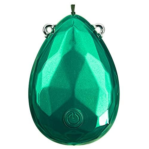 Haowen T30 Collana Portatile Collo Ioni Negativi Purificatore d'Aria Portatile A Lunga Durata Verde 59,3 * 41,21mm