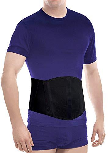 TOROS GROUP MANUFACTURE Original Ergonomic Umbilical Navel Hernia Belt (New Model) / Abdominal Support Brace Large Black