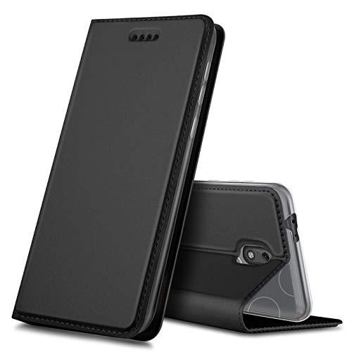 Verco Handyhülle für Nokia 2.2, Premium Handy Flip Cover für Nokia 2.2 Hülle [integr. Magnet] Book Hülle PU Leder Tasche, Schwarz