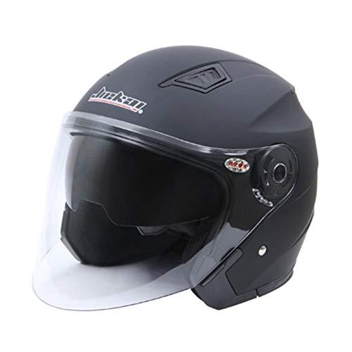 ZHIXX MALL Klapphelm Integralhelm ,Blendung Vermeiden Motorradhelm Roller Sturz Helm - Double Lens Helm (Mattschwarz, L)