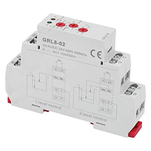 YEESEU GRL8-02 10A AC/DC 24V-240V Liquid 2 o Controlador de Nivel de Agua 1 Nivel de Control de Modo Relay