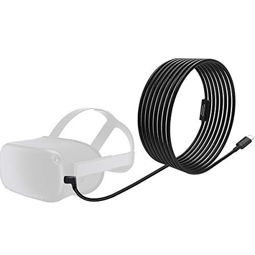 NEWZEROL Insgesamt 6M / 20Ft Typ C Stabiles Datenkabel Kompatibel mit Oculus Quest Link Steam VR, Verlängerungskabel mit Relaisverstärkerchip und USB 3.2 Gen 1-Kabel (Nur Kabel)