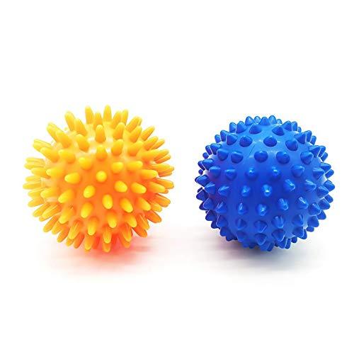 2 Stück Stachel-Massageball Igelball mit Noppen Myofasziale Bälle Faszienball für Massage-Muskel(6,5cm)