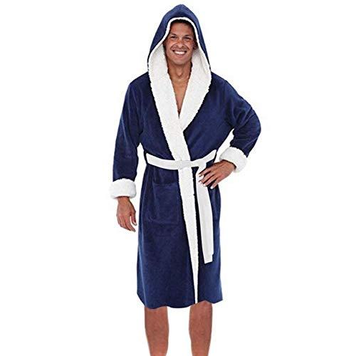 Moda Casual Ropa De Dormir para Hombres Invierno Felpa Chal