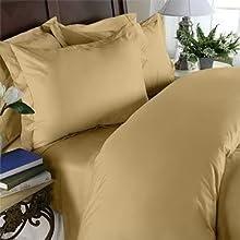 Elegant Comfort Juego de sábanas de Calidad egipcia de 1500 Hilos, 4 Piezas, con Bolsillos Profundos, tamaño King, Color Dorado