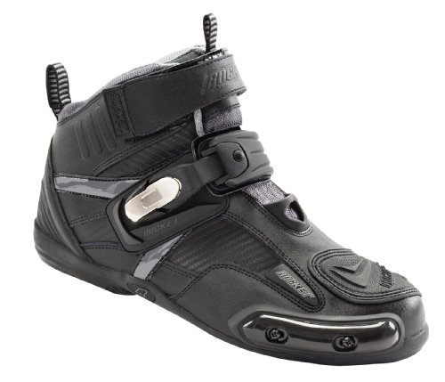 Joe Rocket Atomic Men's Motorcycle Riding Boots/Shoes (Black/Grey, Size 10) (1387-1010)