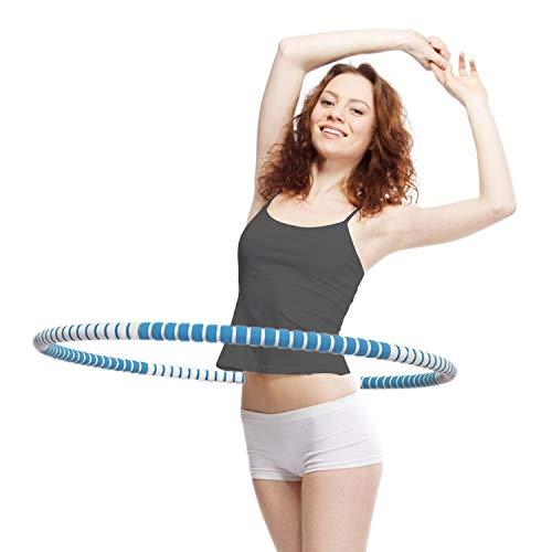 KINBETA Hula Hoop, Hula Hoop Reifen Erwachsene Zur Gewichtsreduktion und Massage Verwendet Werden KöNnen,8 Segmente Abnehmbarer Hoola Hoop Geeignet Für Fitness Blau
