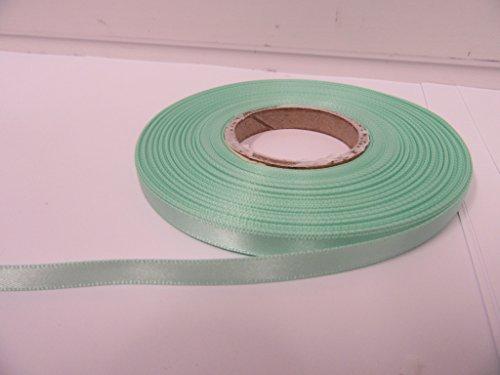 Beautiful Ribbon 1 Rouleau de Ruban de Satin 7mm x 25 mètres Menthe Vert foncé Double Face 7 mm